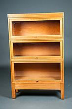 Three Tier Oak Barrister Bookcase