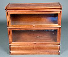 Two Tier Mahogany Barrister Bookcase