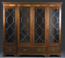 Federal Mahogany Glass-Front Display Case, 19th c.