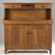 Southern Pine Hutch Dry Sink, 19th c.