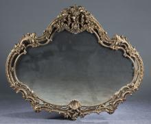 Large Louis XIV-Style Gilt Mirror, 20th c.