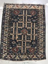 Persian Geometric Rug, Early 20th c.