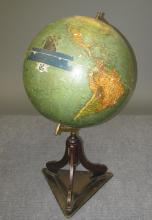 Paul R?th Terrestrial Relief Globe, Early 20th c.