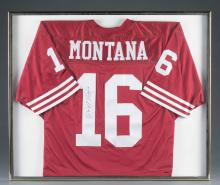 Joe Montana #16 Signed San Francisco 49ers Jersey.