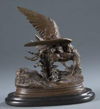 After Jules Moigniez (France, 1835-1894) Bronze.