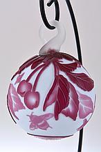 Pilgrim Cameo Glass Ornament,