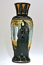 Pilgrim Cameo Glass Vase,