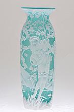 Fenton Cameo Glass Bottle,