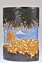 Pilgrim Cameo Glass Oval Vase,
