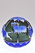 Pilgrim Cameo Glass Paperweight,