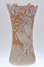 Fenton Cameo Glass Vase,