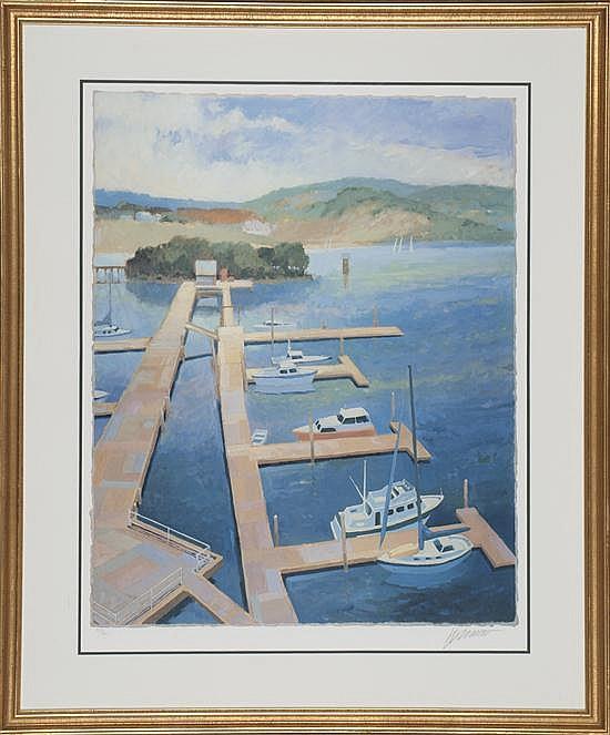 Max Hayslette, Bay Island Marina I, Poster, Od: 41 1/2 H x 34 1/2 W