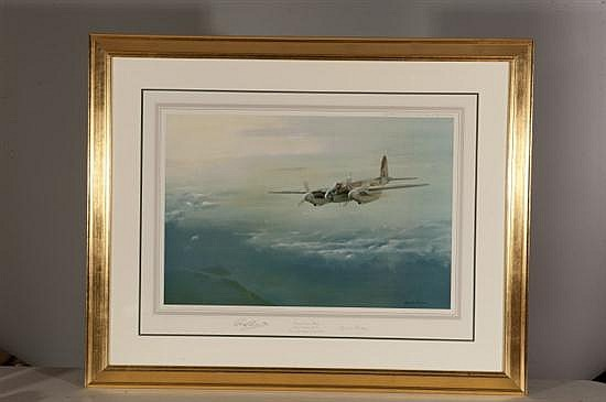 Leonard Pearman, Enemy Coast Below, Lithograph, Od: 34 H x 42 W Id: 31 H x 23 1/2 W