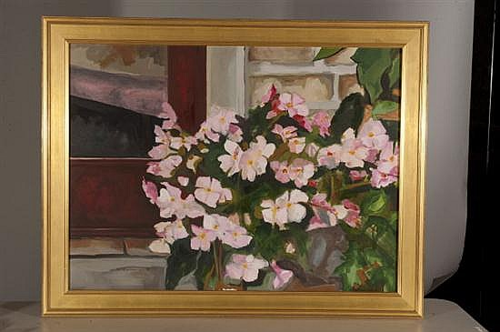 Carol Horgan Lesher, 2003, Impatience, Oil on Canvas, Od: 36 H x 46 W Id: 29 1/2 H x 39 1/2 W
