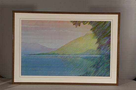 Pastel Landscape, Poster, Od: 31 h x 45 W Id: 23 H x 37 W