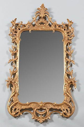 A Florentine Rococo Gilt Wall Mirror,