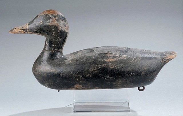 Early Bluebill Duck Decoy with Original Head