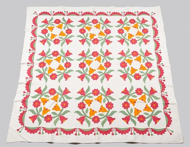 Eastern Ohio appliqued quilt.