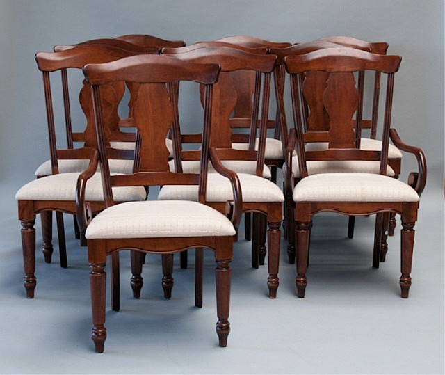 A Set of Ten Nichols & Stone Dining Chairs,