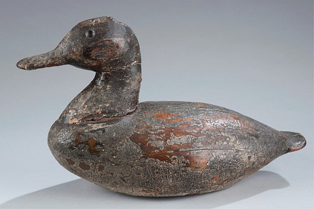 Early Bluebill duck decoy.