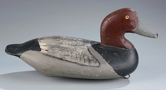 Attributed to William Heverin Redhead Drake decoy.