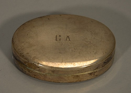 Sterling Silver Box with Monogrammed Lid