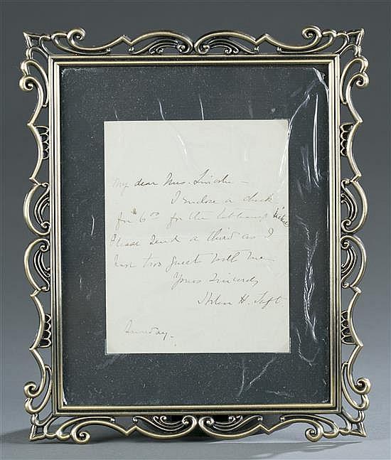 William H. Taft Letter