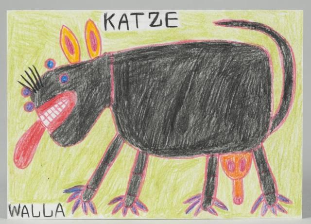 "August Walla (Germany, 1936-2001) ""Katze"