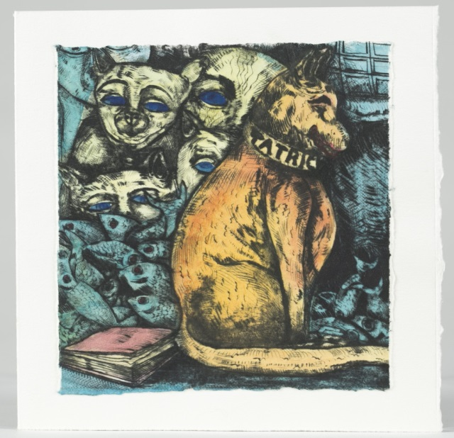 Juli Haas (Australia, 1952-2014) Cat Card.