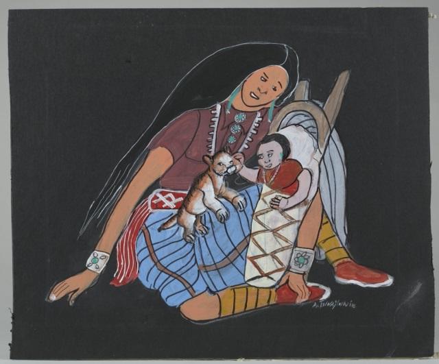 Andrew Van Tsihnahjinnie (Arizona, 1916 - 2000).