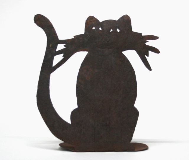 Patrick-B Metal Cat Sculpture.