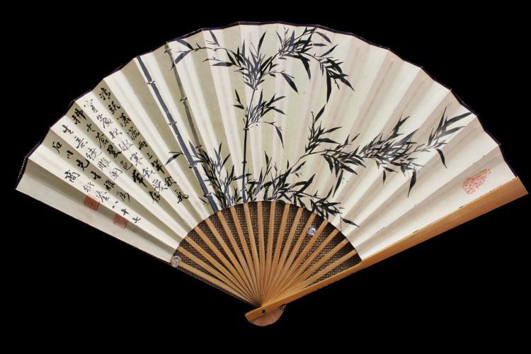 SHANG YANLIU (1875 - 1963) CHINESE BAMBOO PAINTING AND