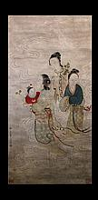 WANG SU (1794 - 1877) CHINESE FIGURES PAINTING