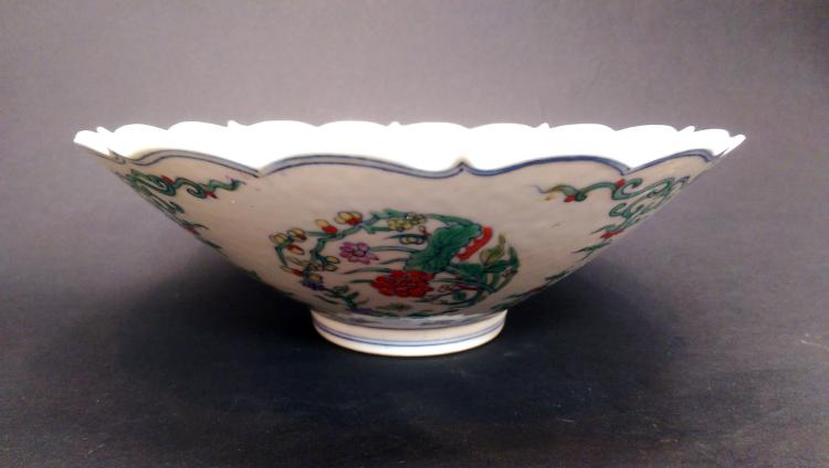 A CHINESE FAMILLE ROSE PAINTED FLOWER PORCELAIN BOWL, EARLY 20TH CENTURY