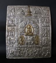 A CHINESE SLIVER BUDHHA PANEL, 19TH C.