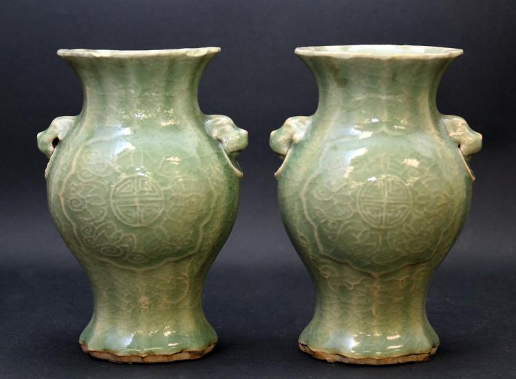 A PAIR OF CHINESE YELLOW GROUND BLUE FLOWERS PORCELAIN JARS