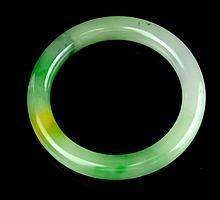 A Semi Translucent Chinese Jadeite Bangle