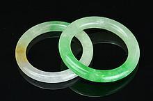 A Pair Chinese Jadeite Bangles