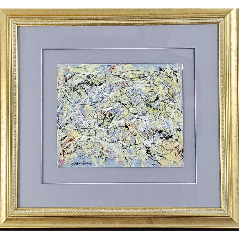 Abstract Painting Signed Jackson Pollock On Paper