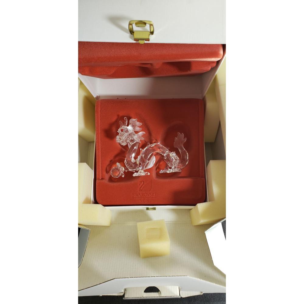 "Swarovsky Crystal 1997 Fab Creature""The Dragon"" In Box"