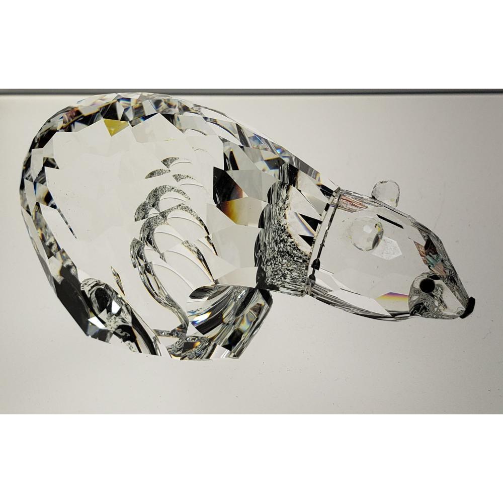 "Swarovsky Crystal Polar Bear. Measures 3.5"" Long"