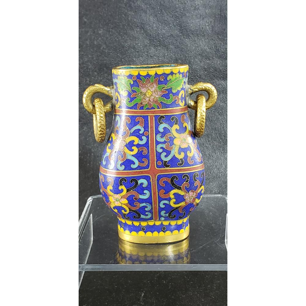 A Chinese Cloisonne Hu Form Vase