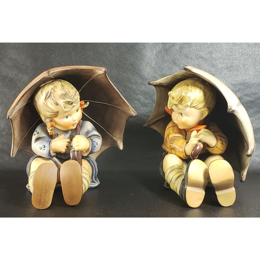 Hummel Umbrella Boy And Girl 1951, 152 A & 152 B.