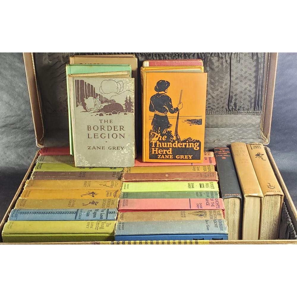 Lot Of 27 Zane Gray Books , a few First Editions.