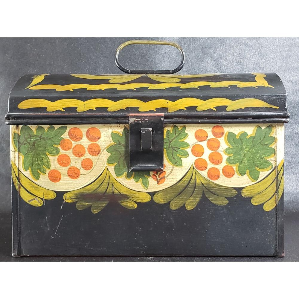 """Folk Art Painted Tin Box """"Henry Ford Museum Collection"""""""