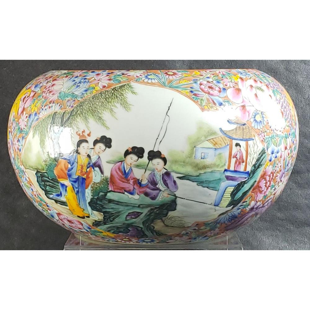 Chinese Famille Rose Bowl / Pot With Mark