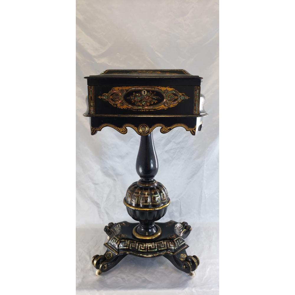 19 C Mother Of Pearl Inlaid Sewing Box 1850 Osborne House on Isle Of Wright Queen Victoria