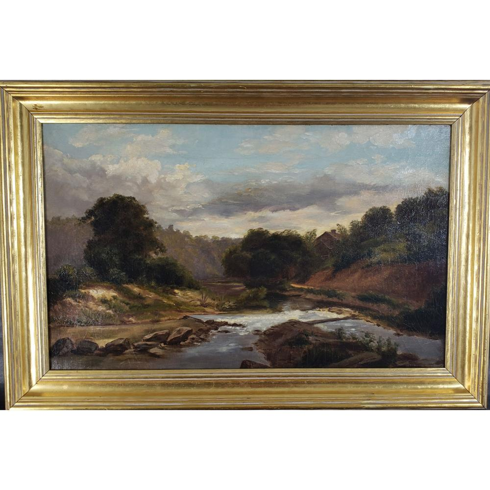 19th Century O/C Landscape Painting