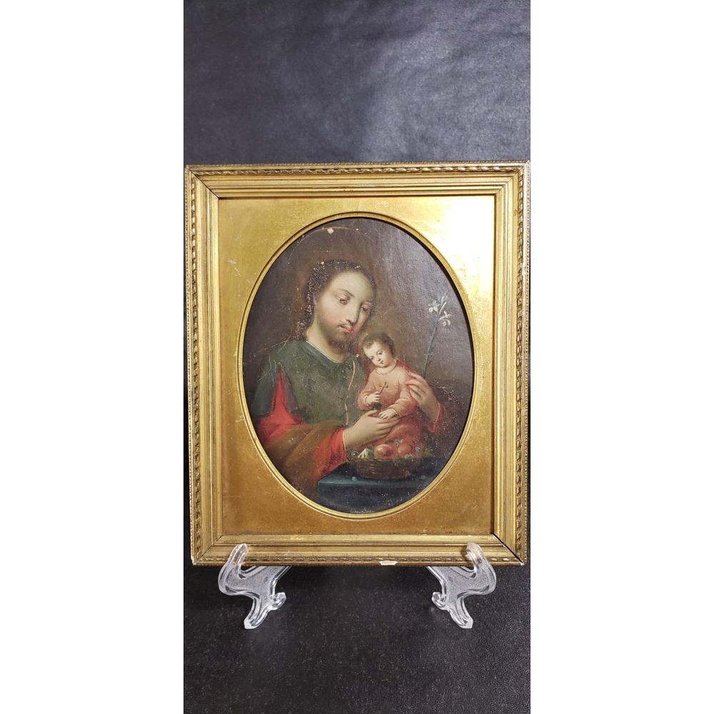 18-19th Century Religious Painting On Copper.