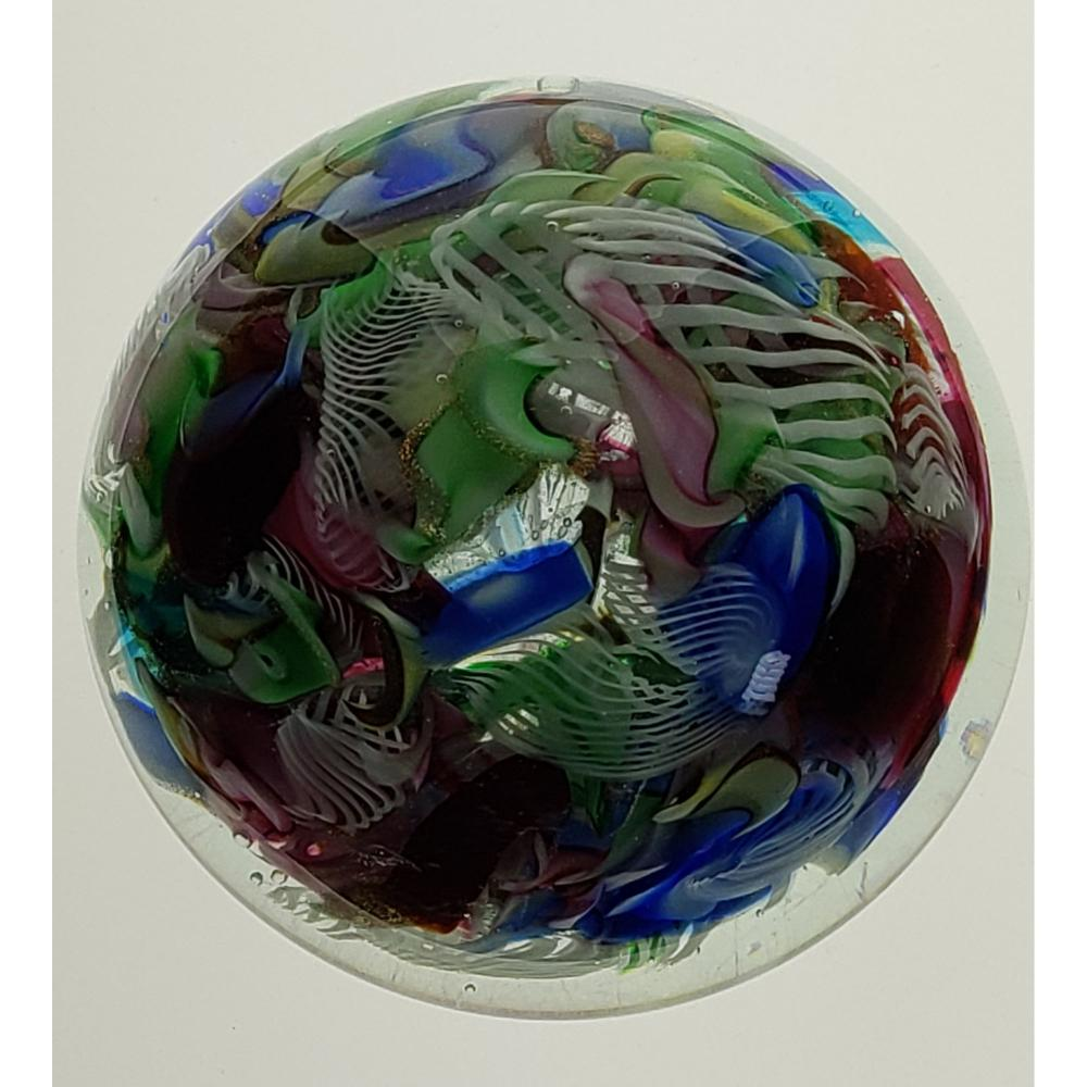 Large Art Glass Paperweight Possibly 19 c